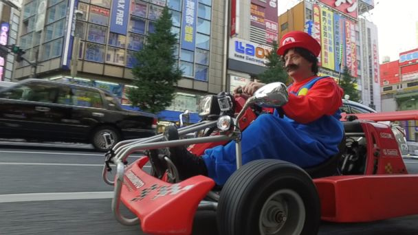 Driving a Real-Life Mario Kart in the Streets of Tokyo