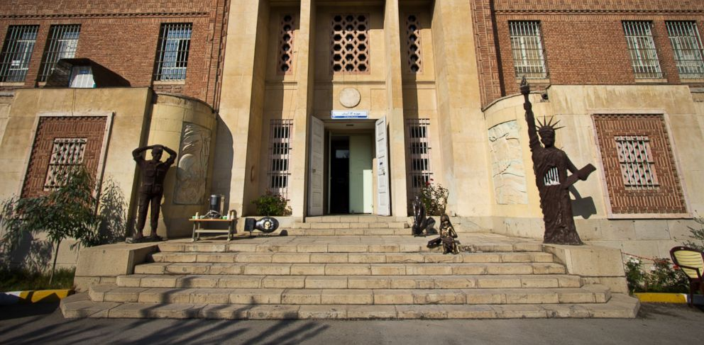 PHOTO: The main entrance to the former U.S. Embassy in Tehran, Iran, is shown, Nov. 3., 2013.