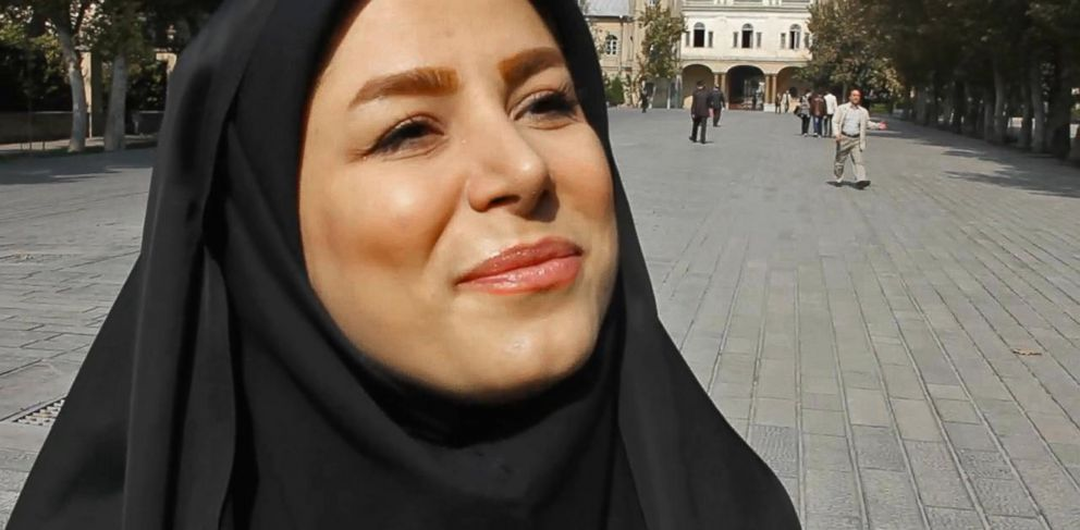 PHOTO: Farideh Khoosh is a reporter with the youth wing of Irans state broadcaster.