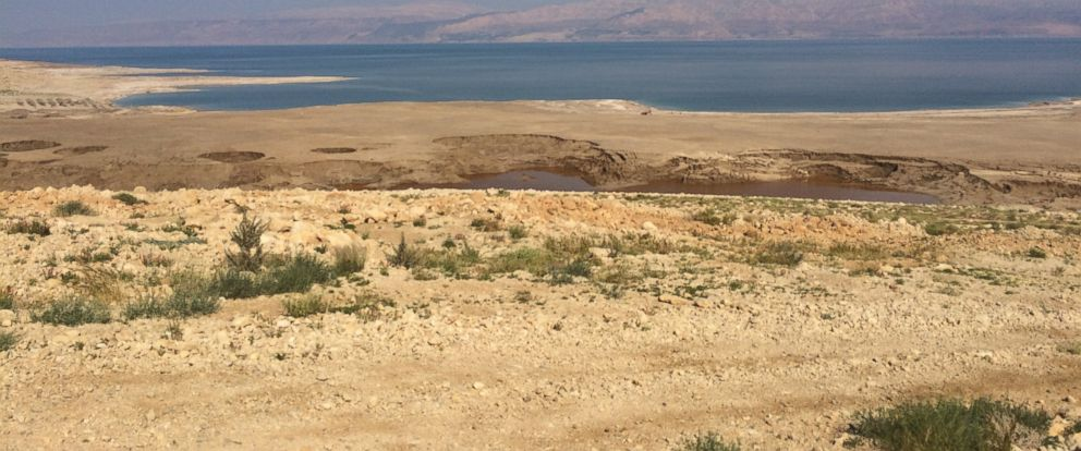 PHOTO: Sinkholes in the Dead Sea.