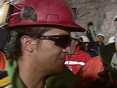 VIDEO: Ariel Ticona Yanez, 29, exits Chiles San Jose Mine.