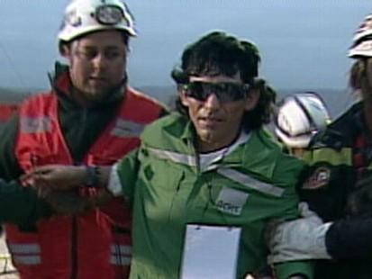 VIDEO: Claudio Yanez, 34, exits Chiles San Jose Mine.