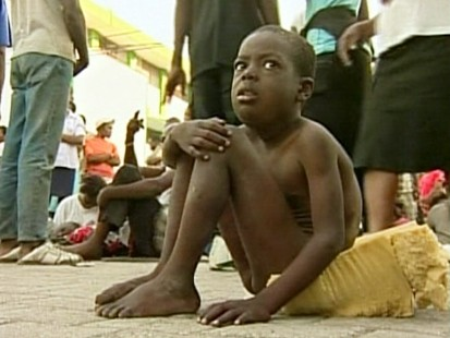 VIDEO: Earthquake victims wait for aid in the streets of Port-au-Prince.
