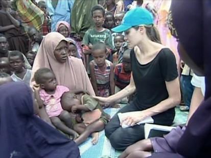 VIDEO: Angelina Jolie visits a refugee camp in Kenya.
