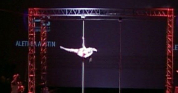 Video: Pole dancing competition.