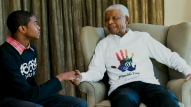 VIDEO: Twelve essay contest winners journey to South Africa to meet Nelson Mandela.