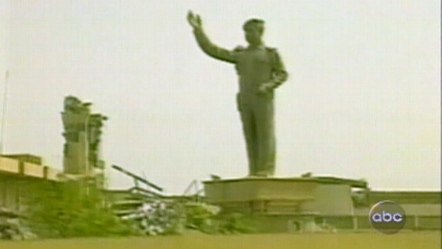 VIDEO: Saddam Hussein's government crumbles and U.S. forces control parts of Baghdad.