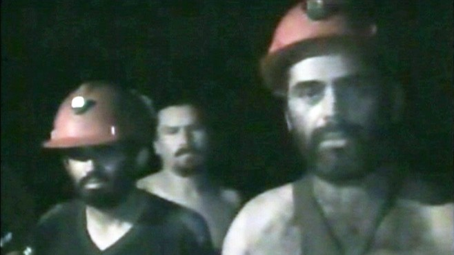VIDEO: New video shows the trapped Chilean miners sending greetings to their families.
