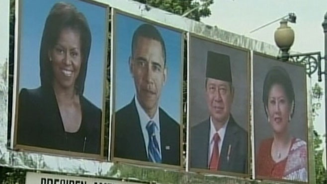 VIDEO: The president makes the second stop on his Asian tour.