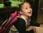 PHOTO: Demitric Boykin of Aurora, Colo., brought his 4-year-old daughter, Jaliyah, a bulletproof backpack from a Columbia firm in the wake of the Sandy Hook Elementary School shooting in Newtown, Conn., and the Aurora, Colo. movie theater shooting.