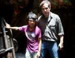 PHOTO: ABCs Bob Woodruff poses with 17-year-old Pemba Tamang, a coal miner in the Indian state of Meghalaya.