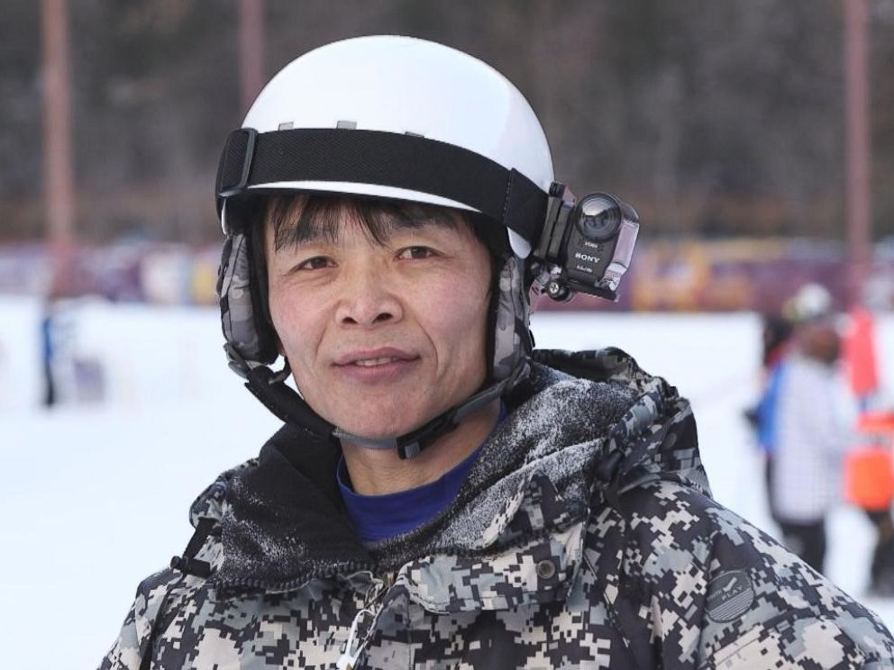 Jung Hoon Choi led a group of 20 fellow North Korean defectors on skis up the mountains of Gangwon-do in South Korea.