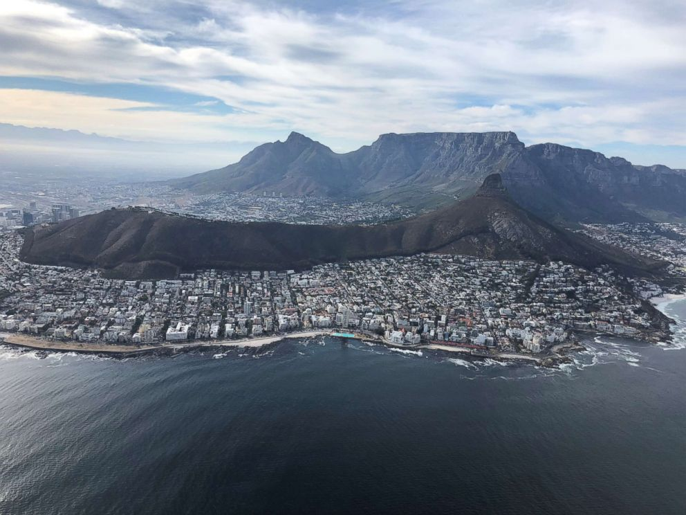 An aerial view of Cape Town, South Africa.