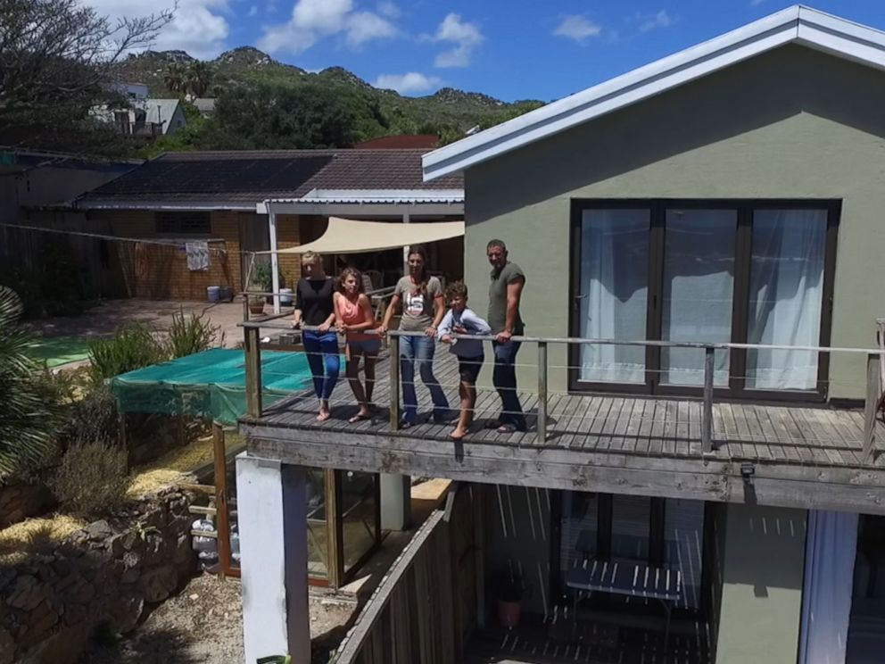 The James family seen here at their home in Cape Town, South Africa.