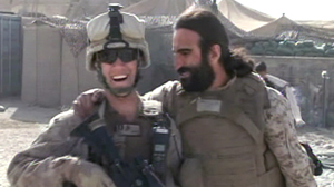PHOTO Fahim Fazli, right, left the bright lights of Hollywood for a job as a translator with the Marines in Afghanistan.