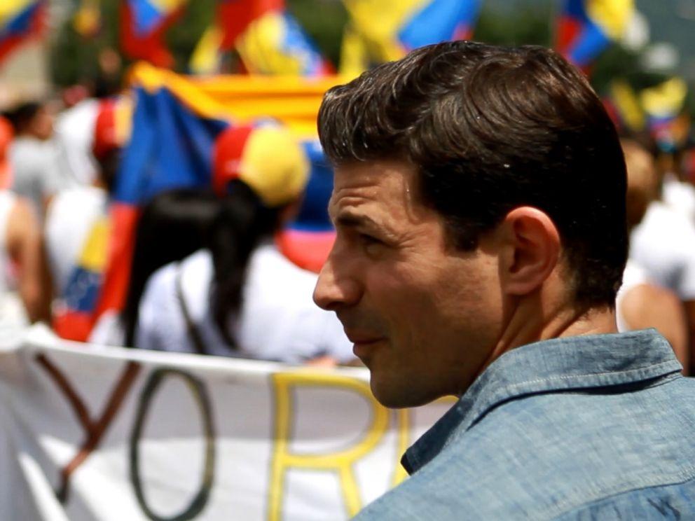 ABCs Matt Gutman is seen here in Venezuela reporting for ABC News Nightline.