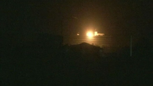 VIDEO: Helicopter fires rockets at roof of hotel during the night in Afghanistan.