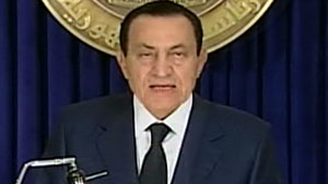 Photo: Egyptian president Hosni Mubarak