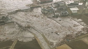 PHOTO: A magnitude 8.9 earthquake rattled Japan, causing a 13-foot tsunami that damaged buildings and washed away homes along the northeastern coast, Friday afternoon.