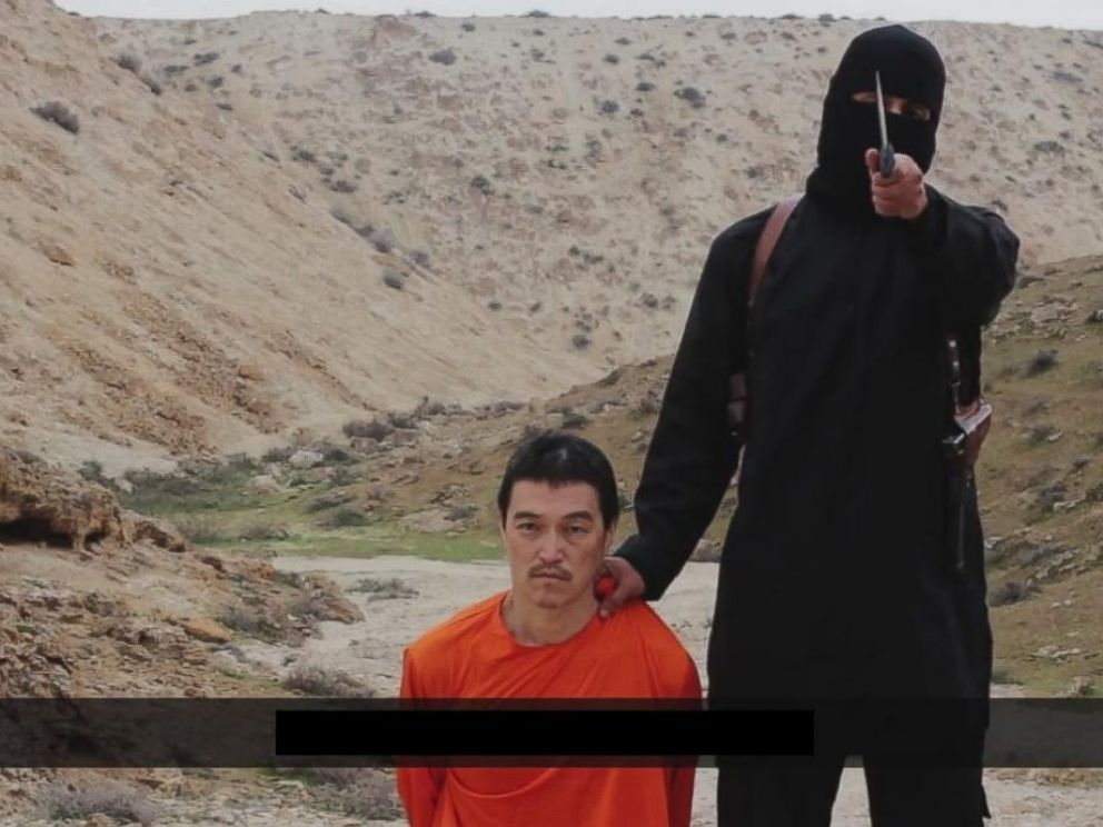 PHOTO: Video posted online Jan. 31, 2015 purports to show death of Japanese hostage Kenji Goto at the hands of an ISIS member.