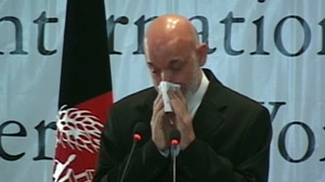 Afghan President Karzai Cries in Nationally Televised Speech