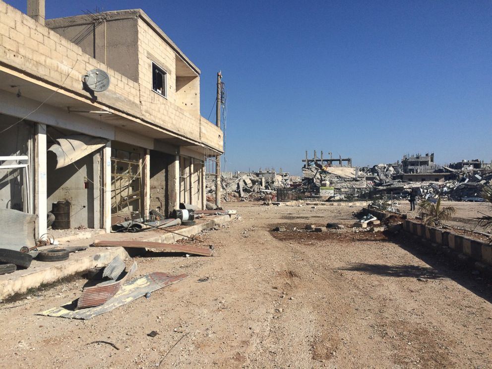 PHOTO: A look inside Syrian border town of Kobane after ISIS was driven out.