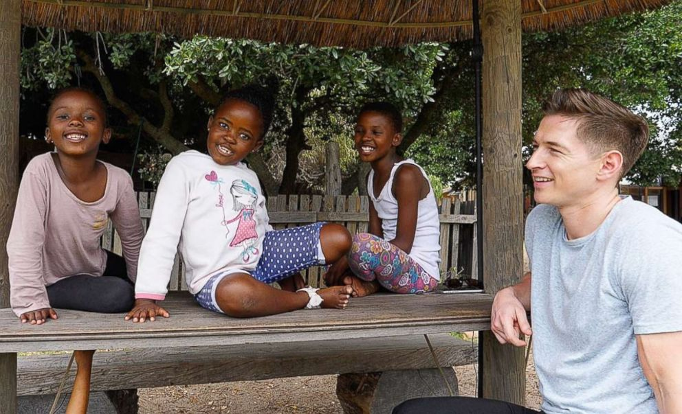 Kids in the Cape Town township where Xhosa is predominantly spoken are seen here teaching ABCs James Longman the language.