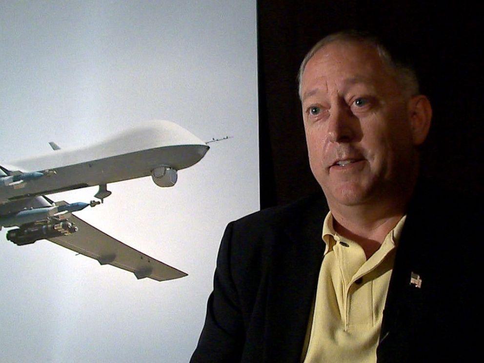 PHOTO: Lt. Col. Mark McCurley (Ret.) talks about the drone strike that killed American al Qaeda member Anwar al-Awalki.