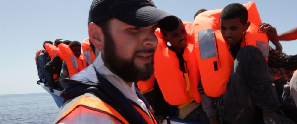 American millionaire Chris Catrambone has forced his way into the middle of the international migrant crisis in the Mediterranean.