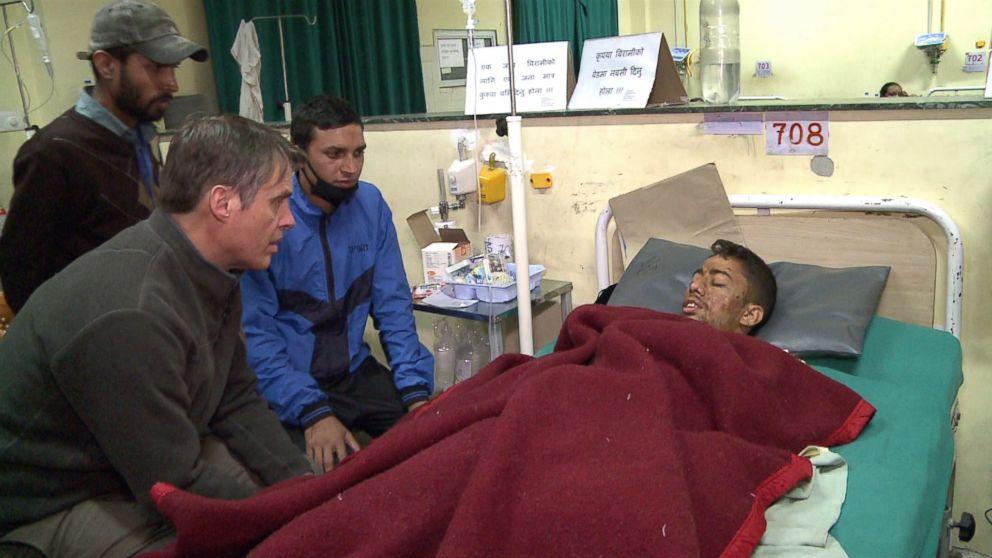 ABC's Terry Moran speaks with an earthquake survivor in Kathmandu, Nepal.
