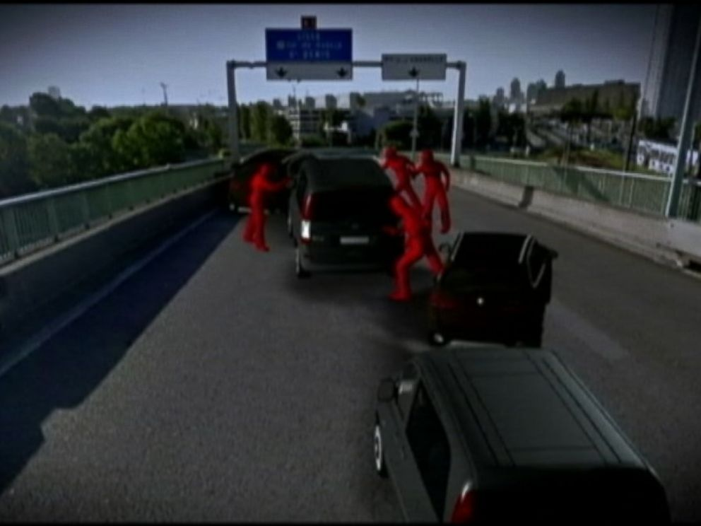 PHOTO: This ABC News animation shows how the armed assailants approached the convoy.