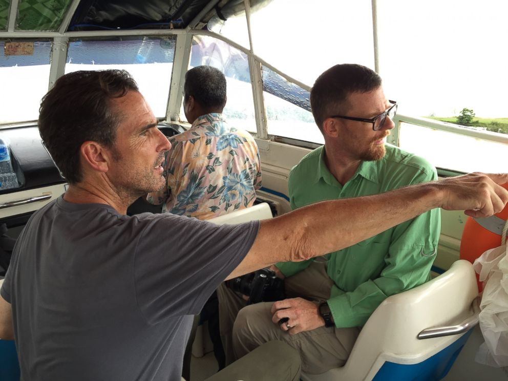 PHOTO: ABC News Bob Woodruff and Fortify Rights Matthew Smith traveling to northern Myanmar.