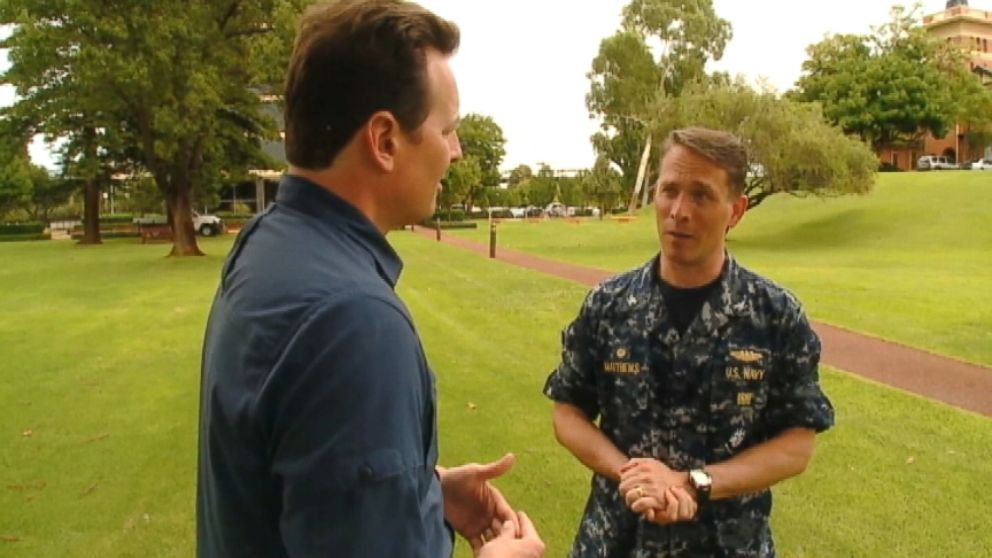 "VIDEO: U.S. Navy Capt. Mark Matthews says latest signals in the Indian Ocean come from a ""manmade device."""