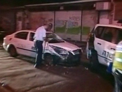 VIDEO: A Palestinian man drove stolen taxi before stabbing several bystanders.
