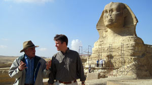 PHOTO ABC News? Terry Moran talks with Egypt?s Minister of Antiquities Zahi Hawass in Cairo, Egypt