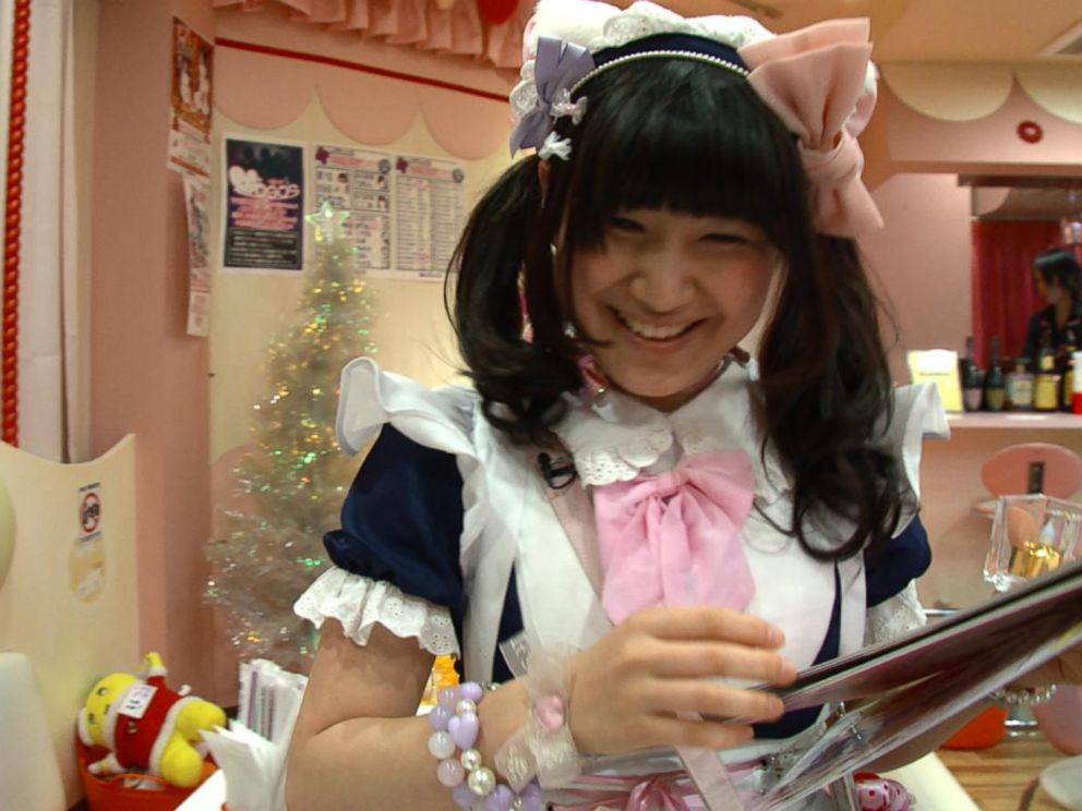Nightline went inside a maid-themed café in Tokyo.