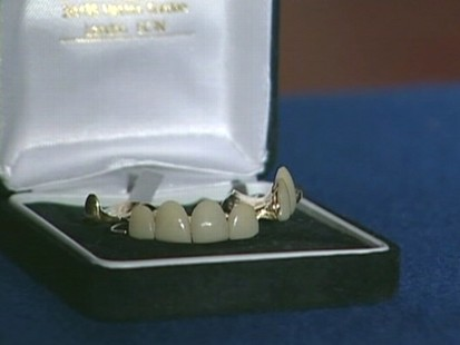 VIDEO: A set of false teeth worn by Winston Churchill goes up for bids.