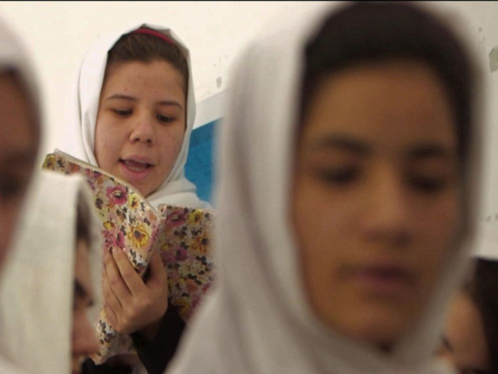 PHOTO: Girls at a high school in Herat, Afghanistan, told ABC News they would not be cowed by threats.
