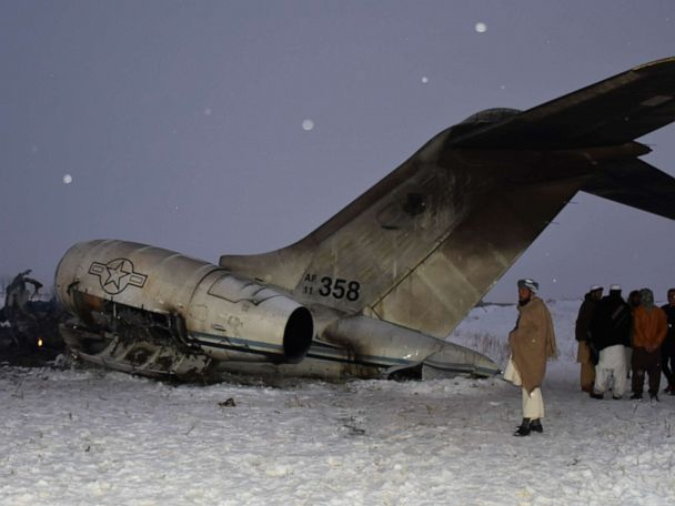 US military aircraft crashes in Afghanistan