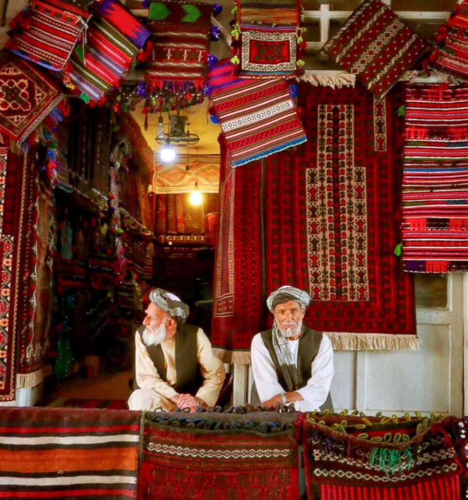 PHOTO: Afghanistan is known for its carpets, like these pictured in Afghanistan in June 2018.