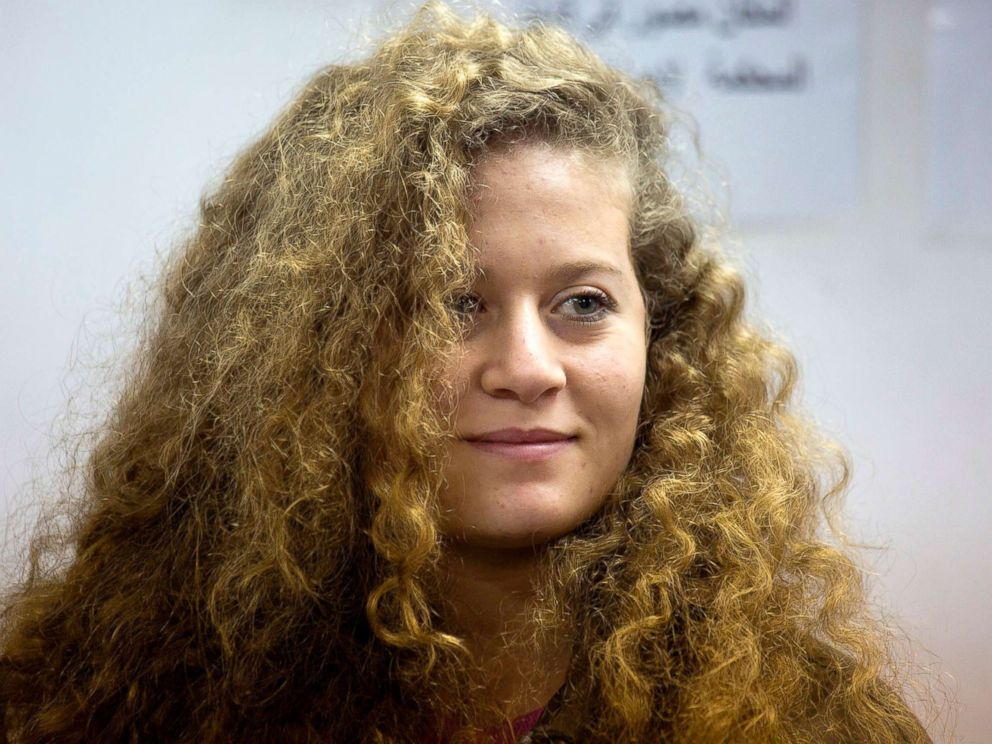 PHOTO: Palestinian protest icon Ahed Tamimi is in a courtroom at the Ofer military prison near Jerusalem, Feb. 13, 2018.