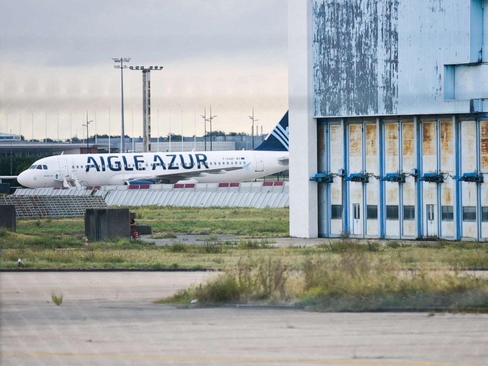 PHOTO: Aigle Azur plane sits on the runway at Orly airport in Paris, Sept. 7, 2019.