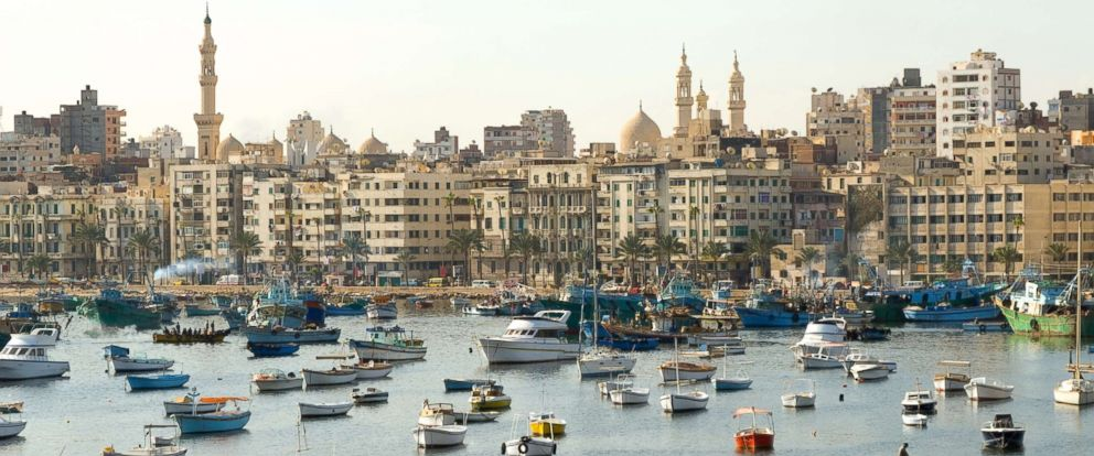 PHOTO: The shore of Alexandria, Egypt is pictured in this undated stock photo.