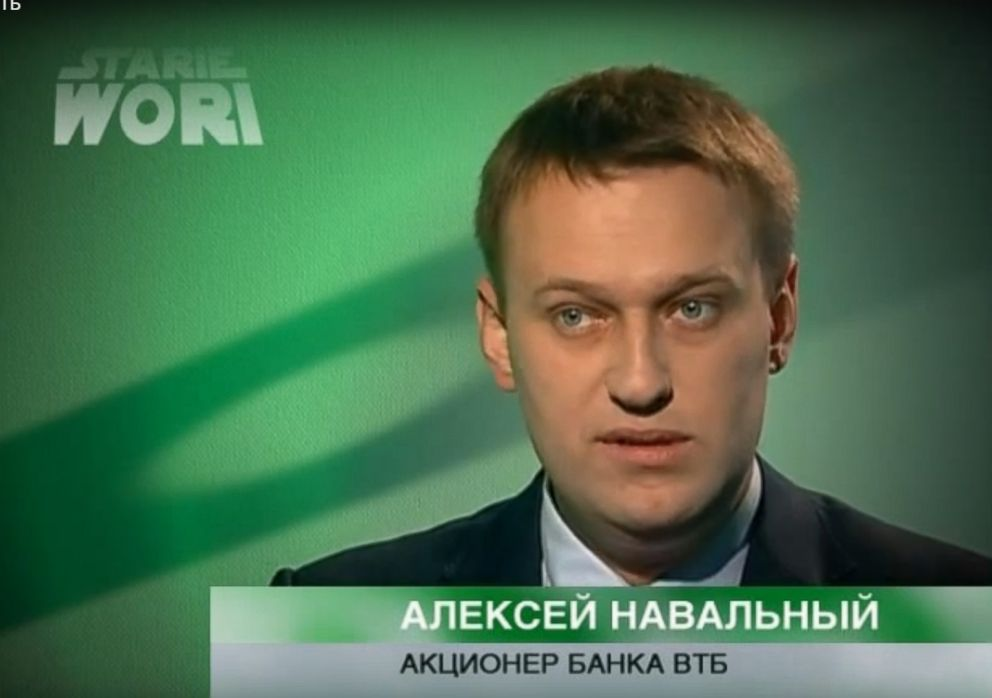 PHOTO: Russian politician Alexey Navalny in a video on his youtube channel.