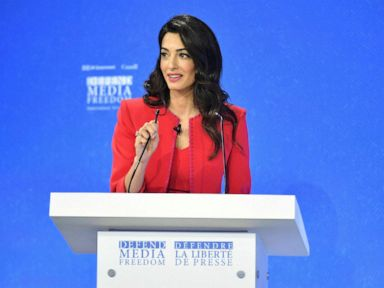 Human rights lawyer Amal Clooney slams Trump, saying he 'vilifies' journalists