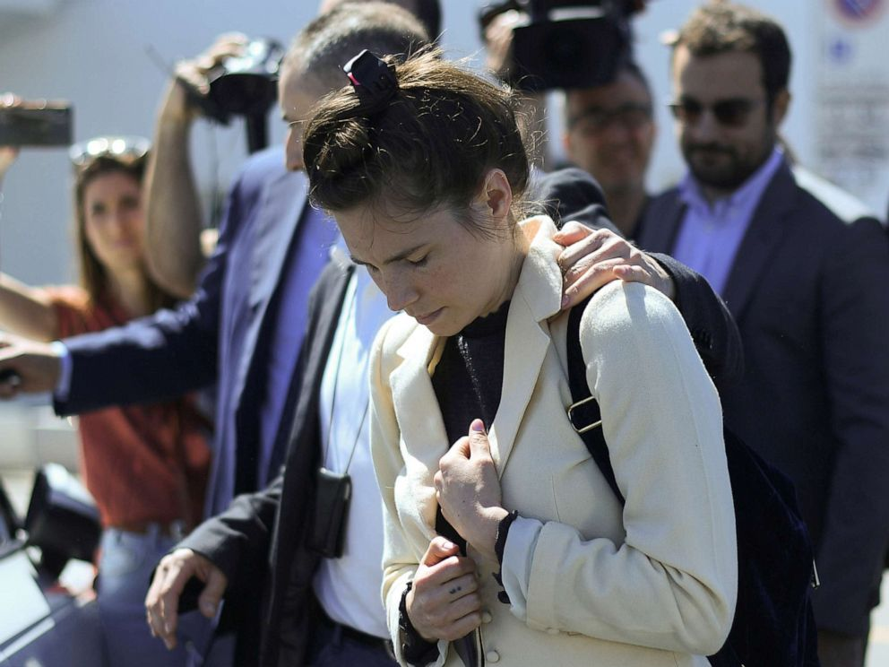 Amanda Knox back in Italy where she was acquitted of murder