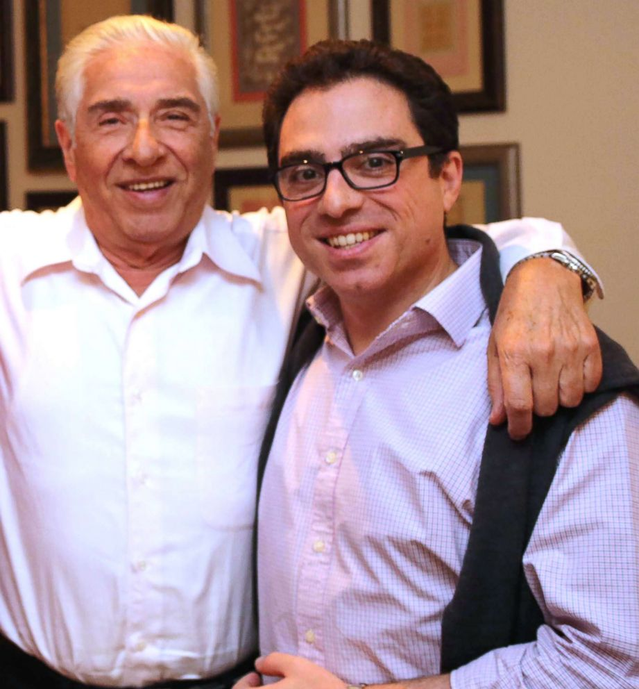 Baquer Namazi, left, and his son Siamak shown in an undated photo made available by Babak Namazi, the brother to Siamak.