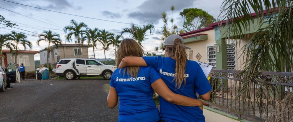 PHOTO: Americares health workers making home visits to check on patients after Hurricane Maria in Puerto Rico.