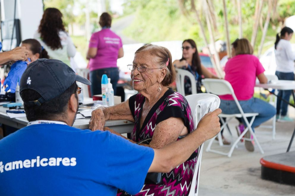 PHOTO: A patient at an Americares mobile clinic in Puerto rico.