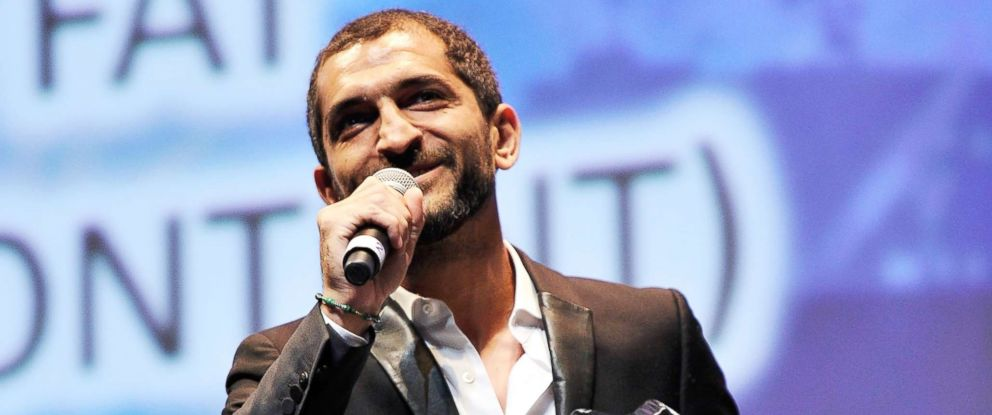 PHOTO: Amr Waked speaks during the 9th Annual Dubai International Film Festival held on Dec. 16, 2012, in Dubai.